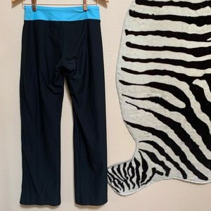 NIKE DRI FIT Yoga black and blue yoga pants